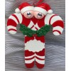 Candy Cane Ornament with 2