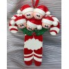 Candy Cane Ornament with 5