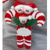 Candy Cane Ornament with 3