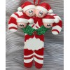 Candy Cane Ornament with 4