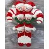 Candy Cane Ornament with 6