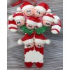 Candy Cane Ornament with 7