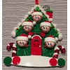 Christmas House Ornament with 5