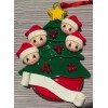 Christmas Tree with 4 Santas
