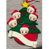 Christmas Tree with 5 Santas