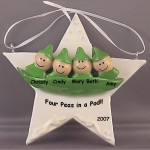 Baby Pea Pod Ornaments
