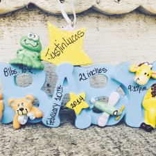 Baby Ornaments | Baby Blue Ornament Spells 'Baby'