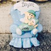 Baby Ornaments | Big Brother and Baby in Chair