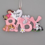 Pink Baby Ornaments