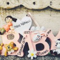 Baby Ornament in Pink | Pink Ornament Spells 'Baby'