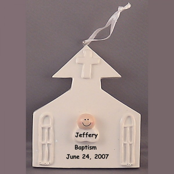 Baptism Ornament Christmas Ornament Personalized Baby: Baptism Ornament