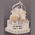 Wedding Cake Ornament, Personalized