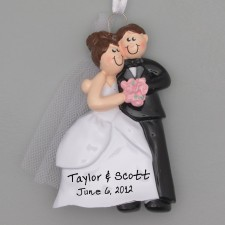Wedding Couple Ornament, Personalized