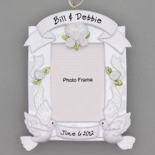 Wedding Photo Frame Ornament with Stand, Personalized